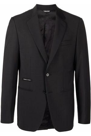 Philipp Plein Logo patch tailored blazer