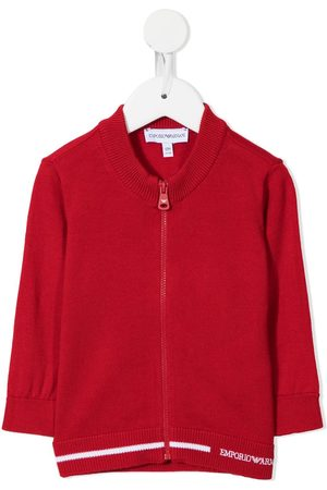 Emporio Armani Zip-up knitted cardigan