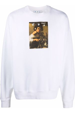 OFF-WHITE Caravaggio front boy print sweatshirt