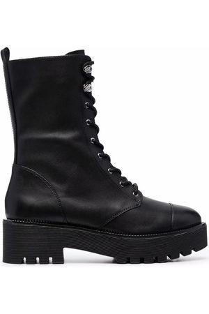Michael Kors Bryce leather platform combat boots