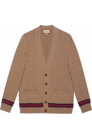 Gucci Web stripe V-neck cardigan