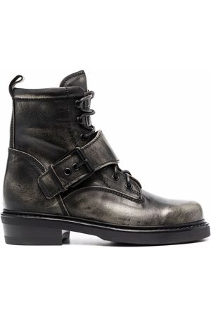 Buttero Women Lace-up Boots - Buckle-strap lace-up boots