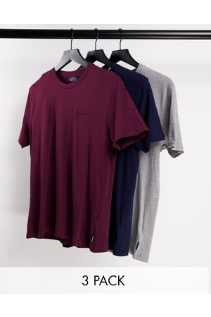 Ben Sherman 3 pack of script embroidery t-shirts-Multi