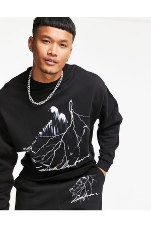 ASOS Co-ord oversized sweatshirt with front graphic print in