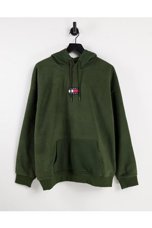 Tommy Hilfiger Badge polar fleece hoodie relaxed fit in