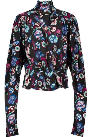 Isabel Marant Blineali floral silk blouse