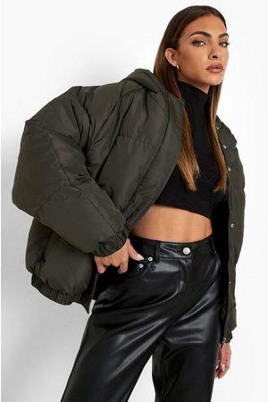 Boohoo Women Winter Jackets - Oversized Raglan Puffer Jacket