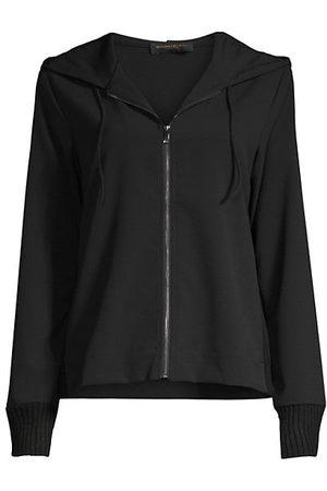 Donna Karan Women Hoodies - Jersey Zip-Front Hoodie