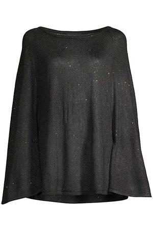 Donna Karan Women Sweaters - Poncho Long-Sleeve Top