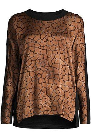Donna Karan Women Sweaters - Pieced Long-Sleeve Sweater Tee