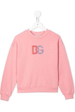 Dolce & Gabbana Boys Sweatshirts - Embroidered logo cotton sweatshirt