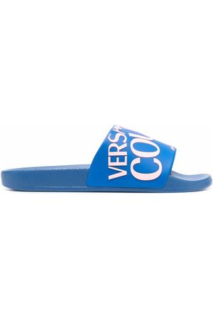 VERSACE Women Thongs - Logo-print open-toe slides