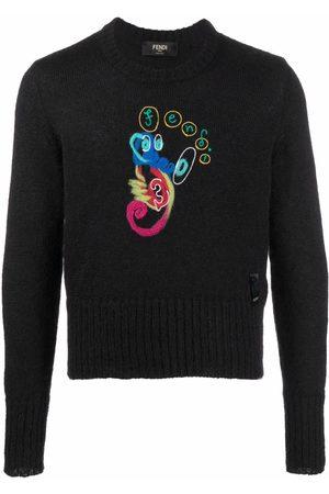 Fendi Men Sweatshirts - X Noel Fielding abstract-print jumper