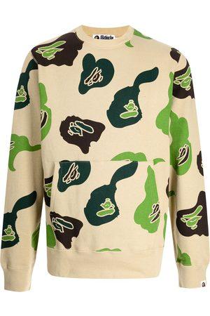 A Bathing Ape Men Sweatshirts - Abstract-print cotton sweatshirt