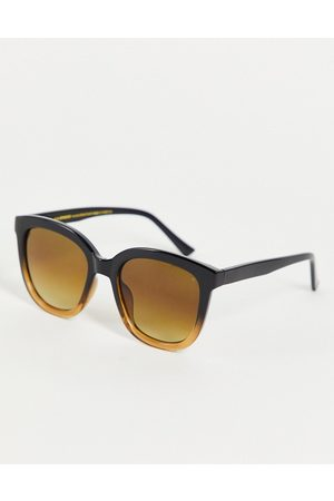 A. Kjærbede Billy womens round sunglasses in to brown fade
