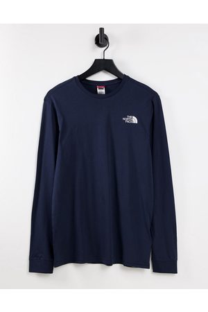 The North Face Simple Dome long sleeve t-shirt in navy