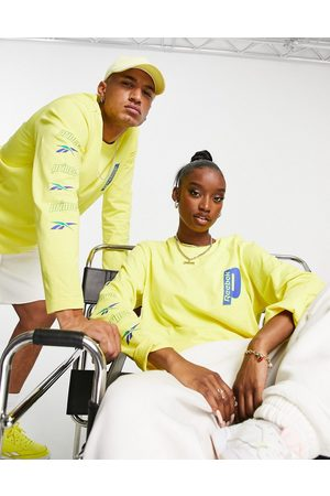 Reebok X Prince unisex long sleeve t-shirt in yellow and blue