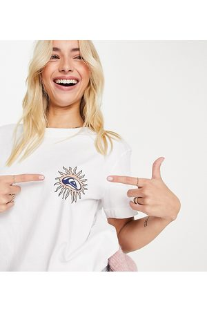 Quiksilver Logo back print cropped t-shirt in Exclusive at ASOS
