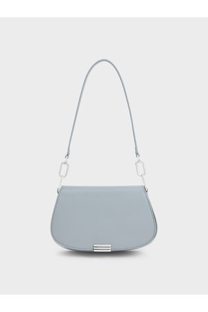 CHARLES & KEITH Women Shoulder Bags - Metallic Accent Small Shoulder Bag