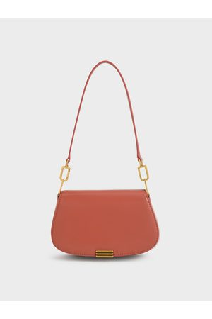CHARLES & KEITH Metallic Accent Small Shoulder Bag