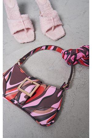 PRETTYLITTLETHING Women Shoulder Bags - Swirl Print Shoulder Bag