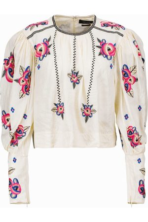 Isabel Marant Ciameli floral silk blouse