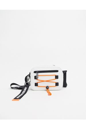 House of Holland Cross Body Bag With Rope Detail In Neon Orange-Multi