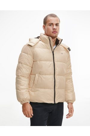 Tommy Hilfiger Essential hooded puffer jacket in -Neutral