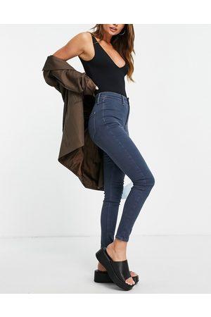 River Island Kaia high-waisted skinny jean in indigo-Grey
