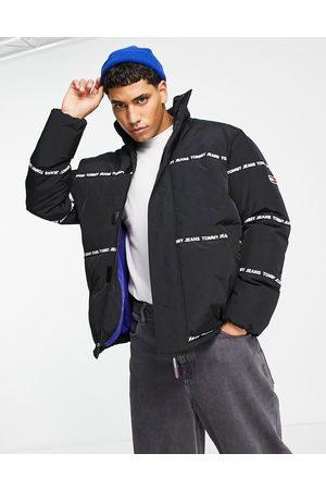 Tommy Hilfiger Logo stripe puffer jacket in