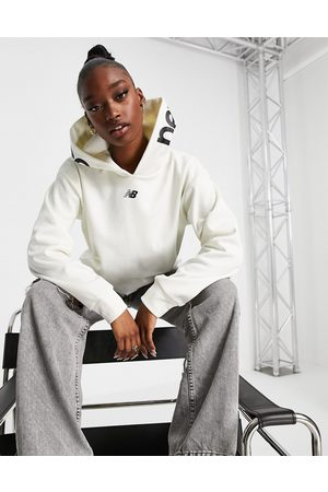 New Balance Running cropped hoodie in
