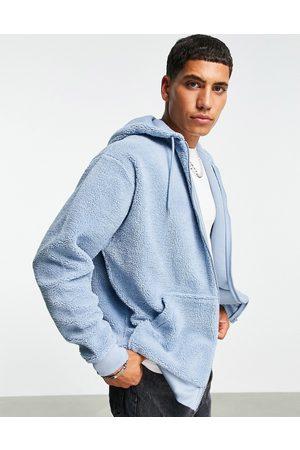 ASOS Oversized teddy borg hoodie in grey