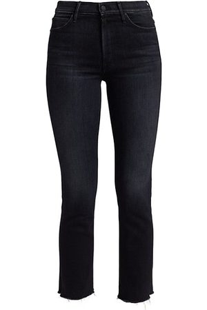 Mother Women Stretch - Rascal Snippet Frayed Ankle Jeans