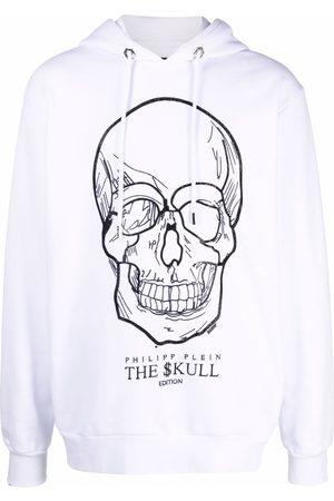 Philipp Plein Crystal-skull pullover hoodie