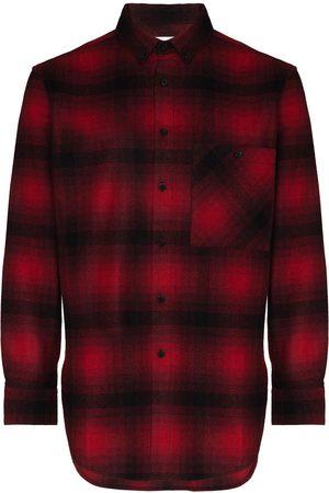 Saint Laurent Check-pattern flannel shirt