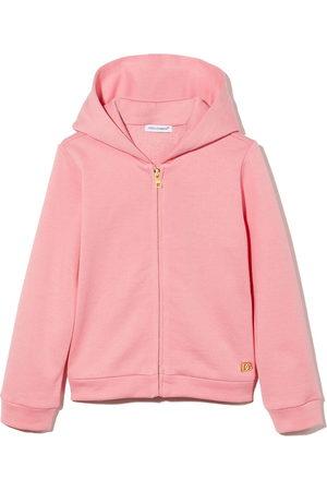 Dolce & Gabbana Hoodies - Logo-plaque zip-up hoodie