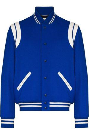 Saint Laurent Varsity Classic Teddy bomber jacket