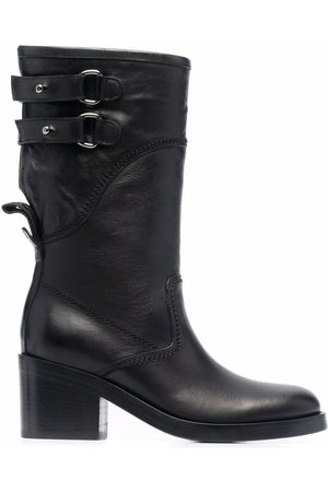 Buttero Buckled leather boots