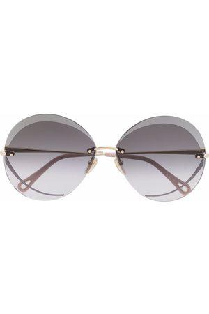 Chloé Tayla round oversized sunglasses