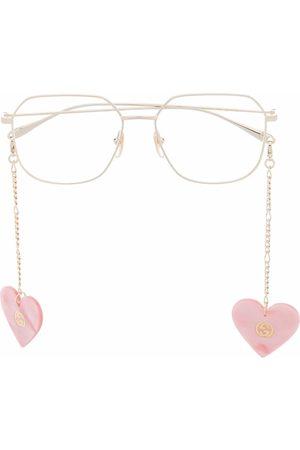 Gucci Oversized square-frame charm glasses