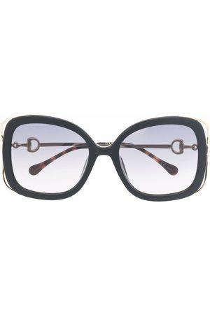 Gucci Oversized-frame two-tone sunglasses
