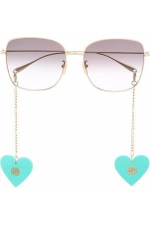 Gucci Oversized-frame gradient sunglasses