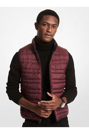 Michael Kors Men Winter Jackets - MK Reversible Quilted Vest - Cordovan - Michael Kors