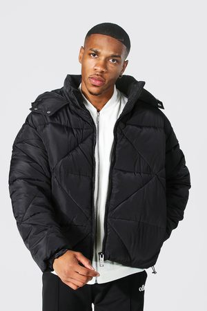 Boohoo Men Winter Jackets - Mens Abstract Quilted Puffer