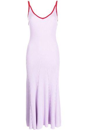 Anna Quan Scarlet ribbed-knit dress