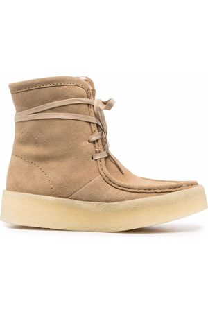 Clarks Women Lace-up Boots - Lace-up suede ankle boots