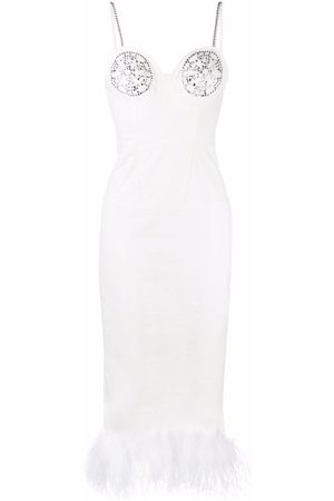 Seen Users Women Party Dresses - Feather-trim fitted dress