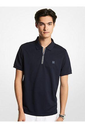 Michael Kors Men Polo Shirts - MK Half-Zip Polo Shirt - Drk Midnight - Michael Kors