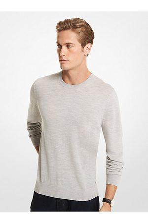 Michael Kors Men Sweaters - MK Merino Wool Sweater - Heather - Michael Kors