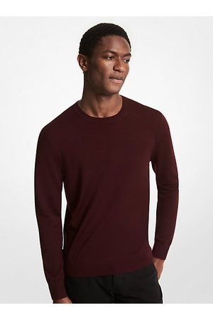 Michael Kors Men Sweaters - MK Merino Wool Sweater - Cordovan - Michael Kors